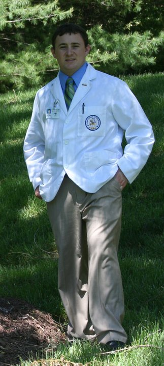 Picture of Dr. Patrick Healy in his clinic attire before graduating from Logan College of Chiropractic